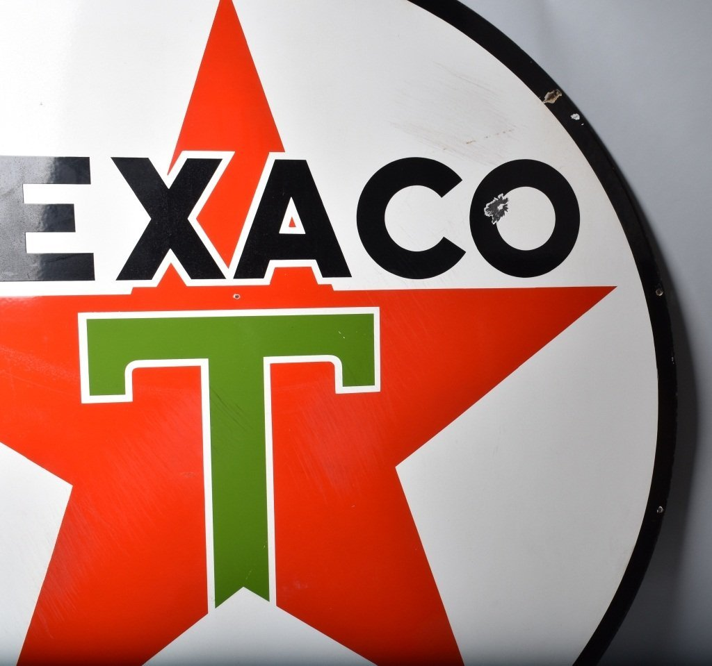 "72"" TEXACO DS PORCELAIN SIGN - 10"