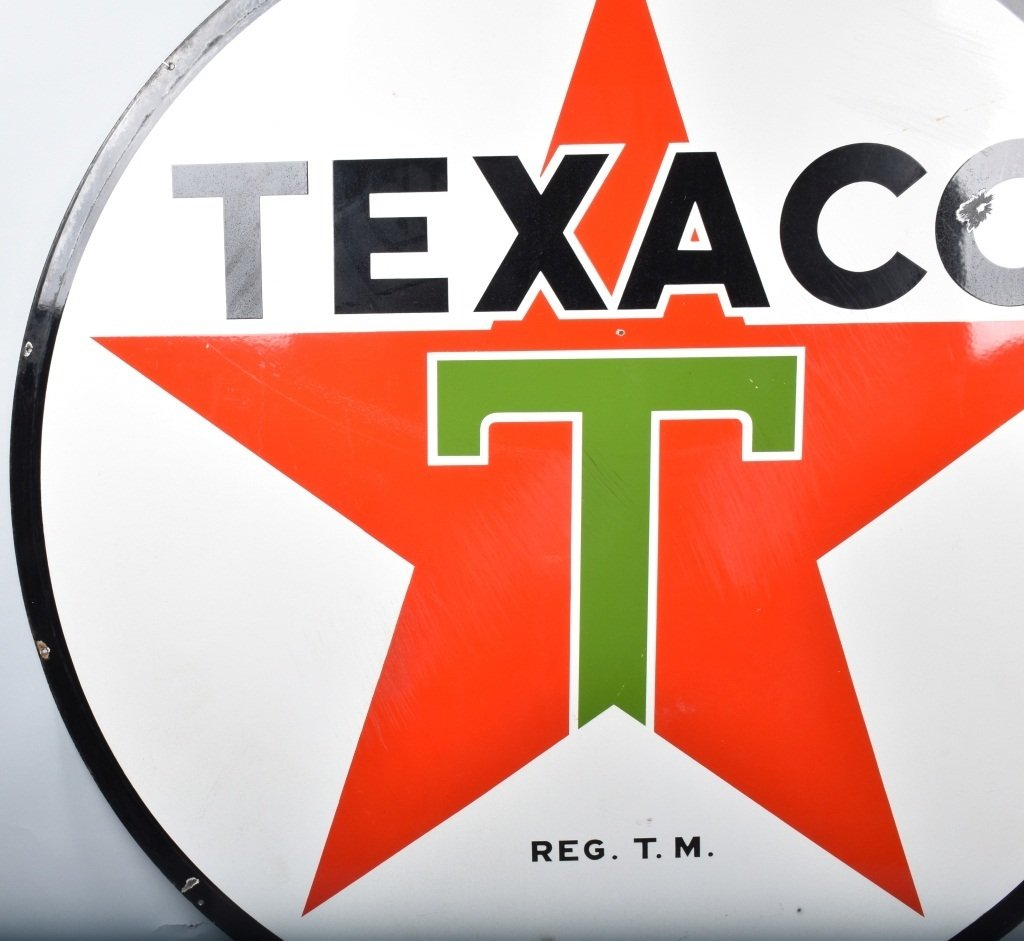 "72"" TEXACO DS PORCELAIN SIGN - 7"