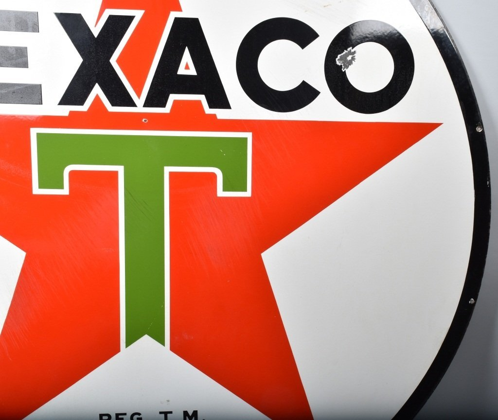"72"" TEXACO DS PORCELAIN SIGN - 8"