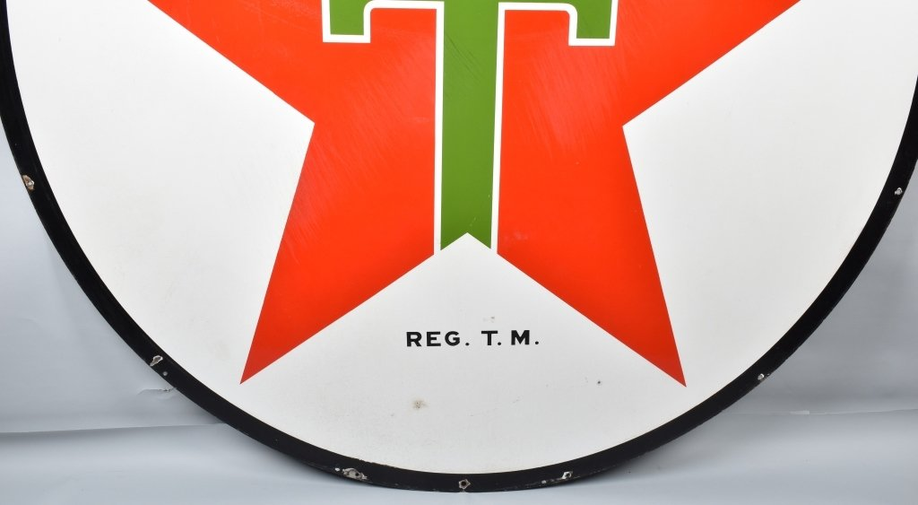 "72"" TEXACO DS PORCELAIN SIGN - 9"