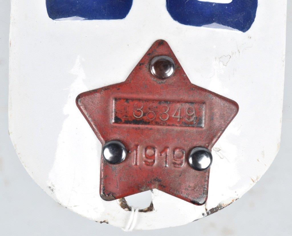 RARE 1919 CALIFORNIA MOTORCYCLE LICENSE PLATE - 3