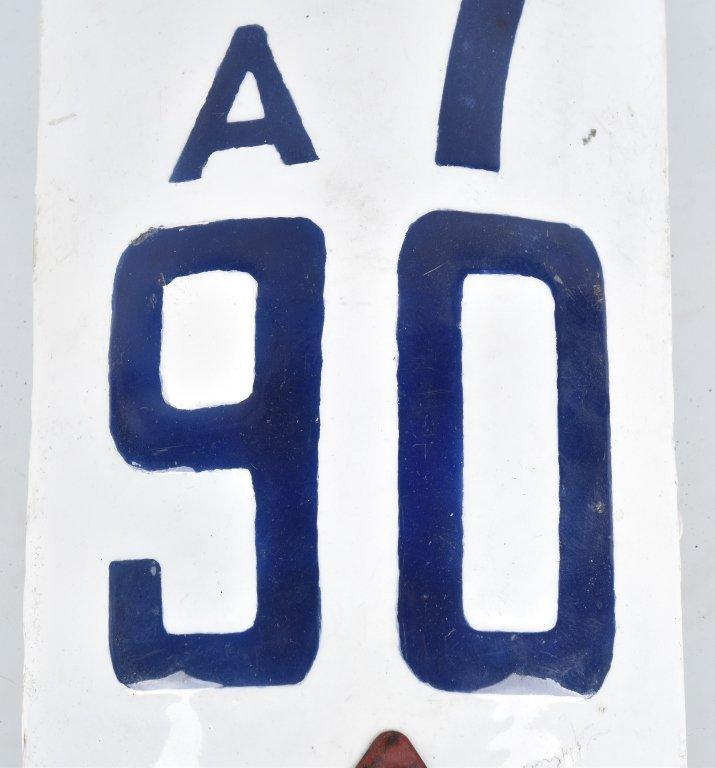 RARE 1919 CALIFORNIA MOTORCYCLE LICENSE PLATE - 4