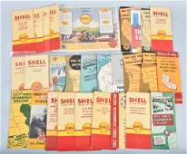 Lot of VINTAGE SHELL ROAD MAPS