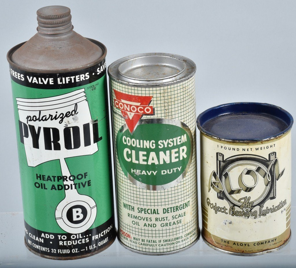Lot of VINTAGE GAS COMPANY OILS & MORE CANS - 3