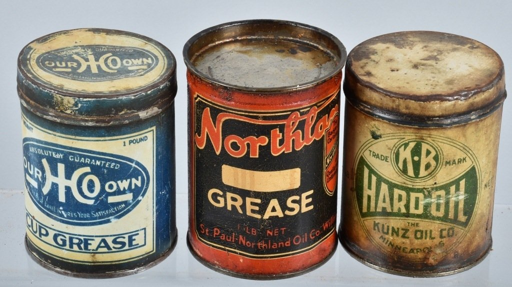 Lot of VINTAGE GAS COMPANY OILS & MORE CANS - 4