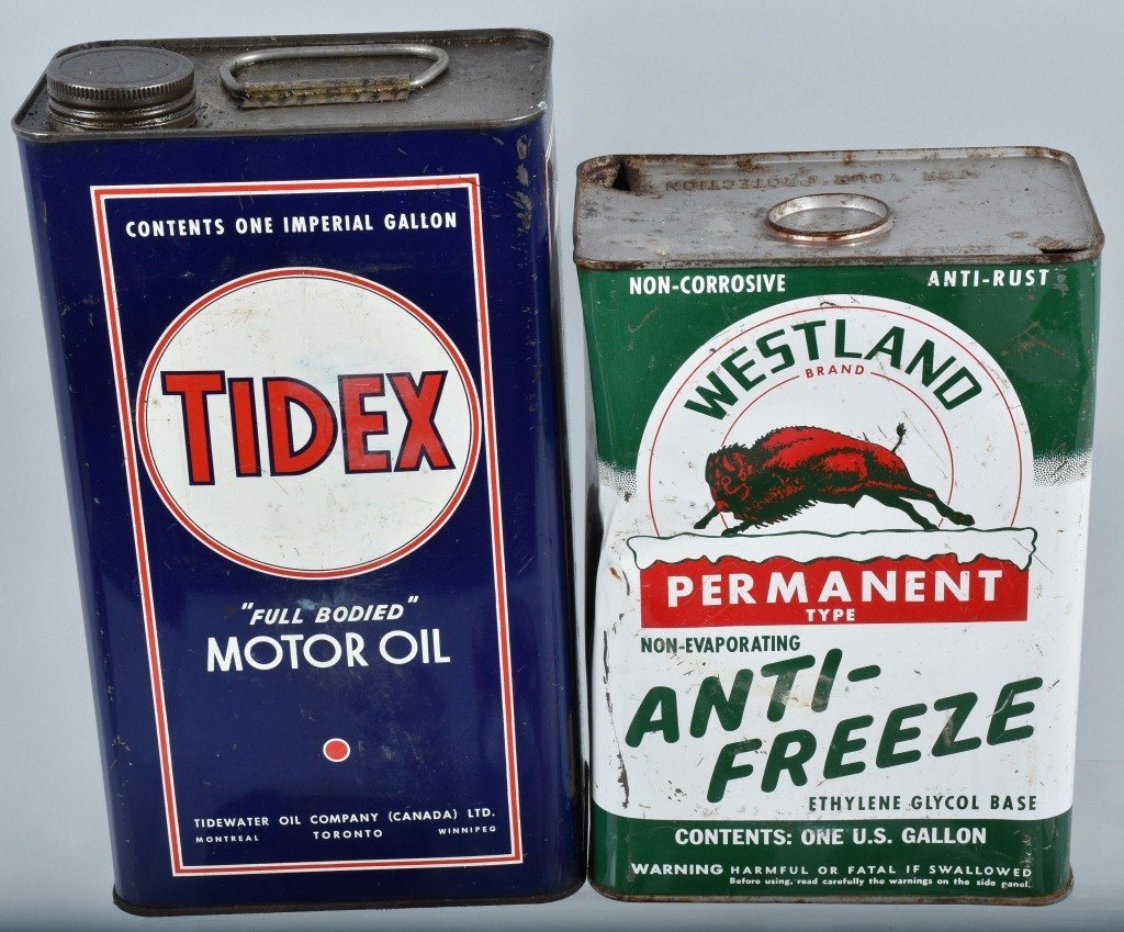 Lot of VINTAGE GAS COMPANY OIL & MORE CANS - 2