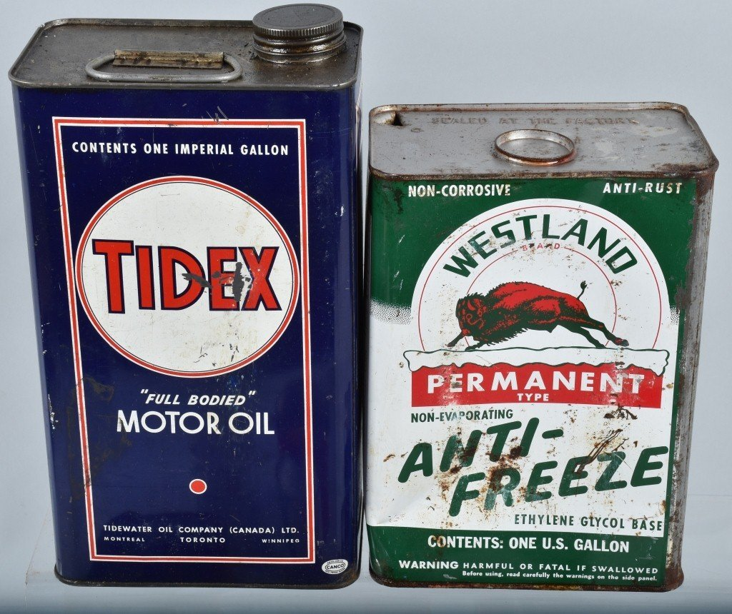Lot of VINTAGE GAS COMPANY OIL & MORE CANS - 3