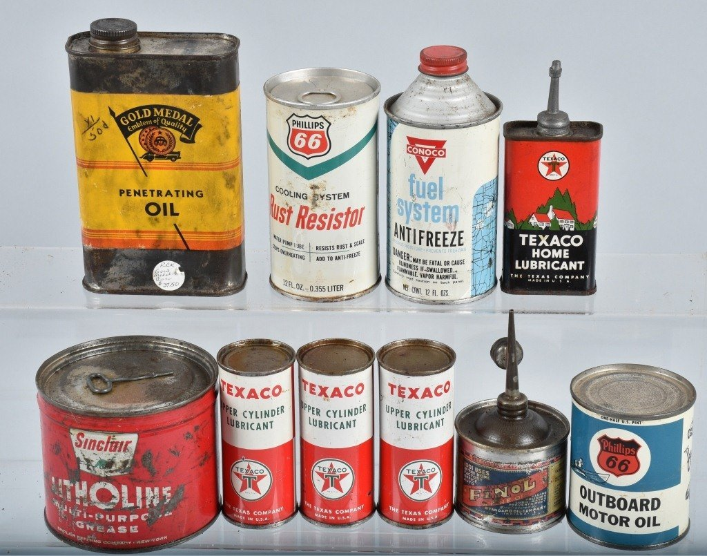 Lot of VINTAGE GAS COMPANY OIL & MORE CANS - 4