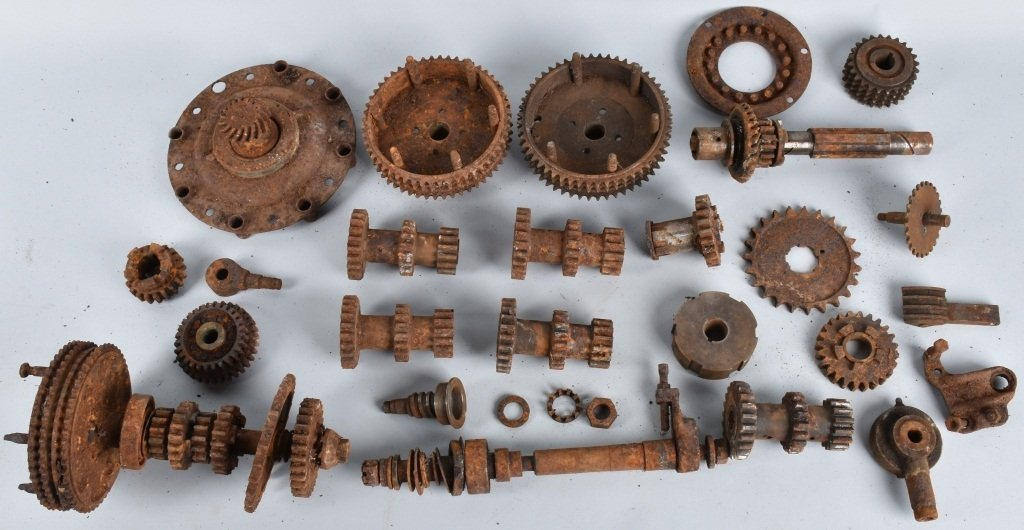 LARGE LOT of EARLY MOTORCYCLE GEARS & MORE
