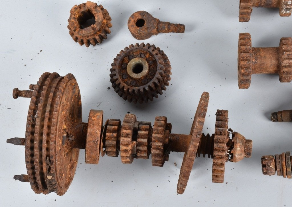 LARGE LOT of EARLY MOTORCYCLE GEARS & MORE - 2