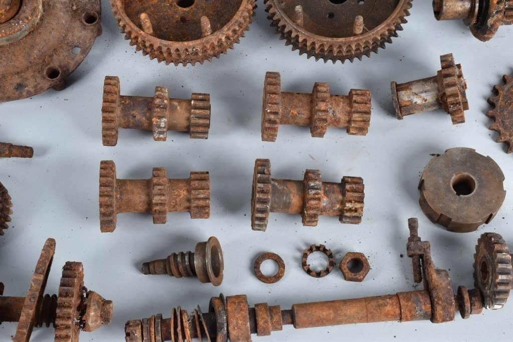 LARGE LOT of EARLY MOTORCYCLE GEARS & MORE - 4