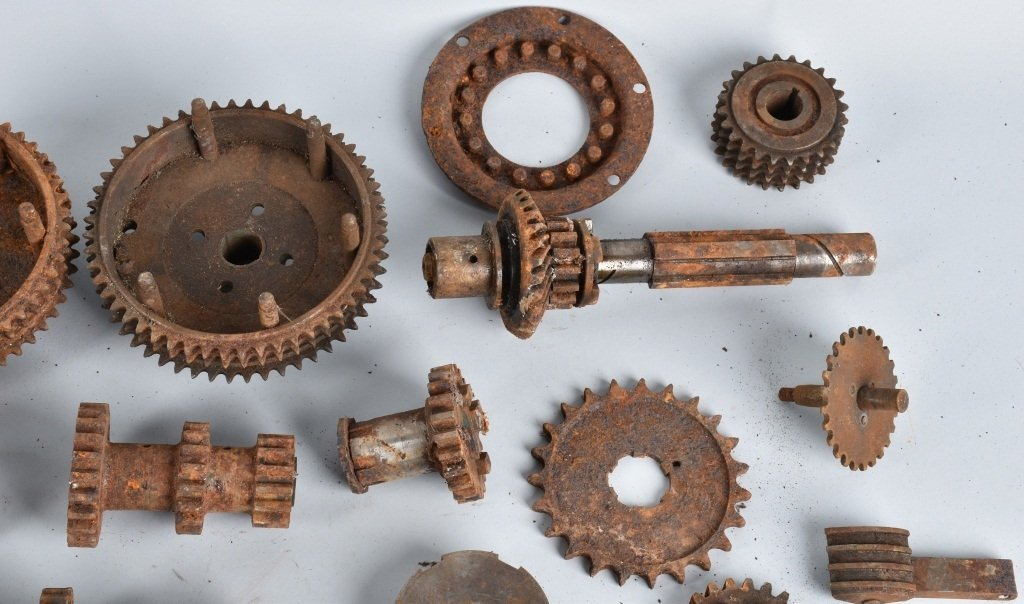 LARGE LOT of EARLY MOTORCYCLE GEARS & MORE - 6