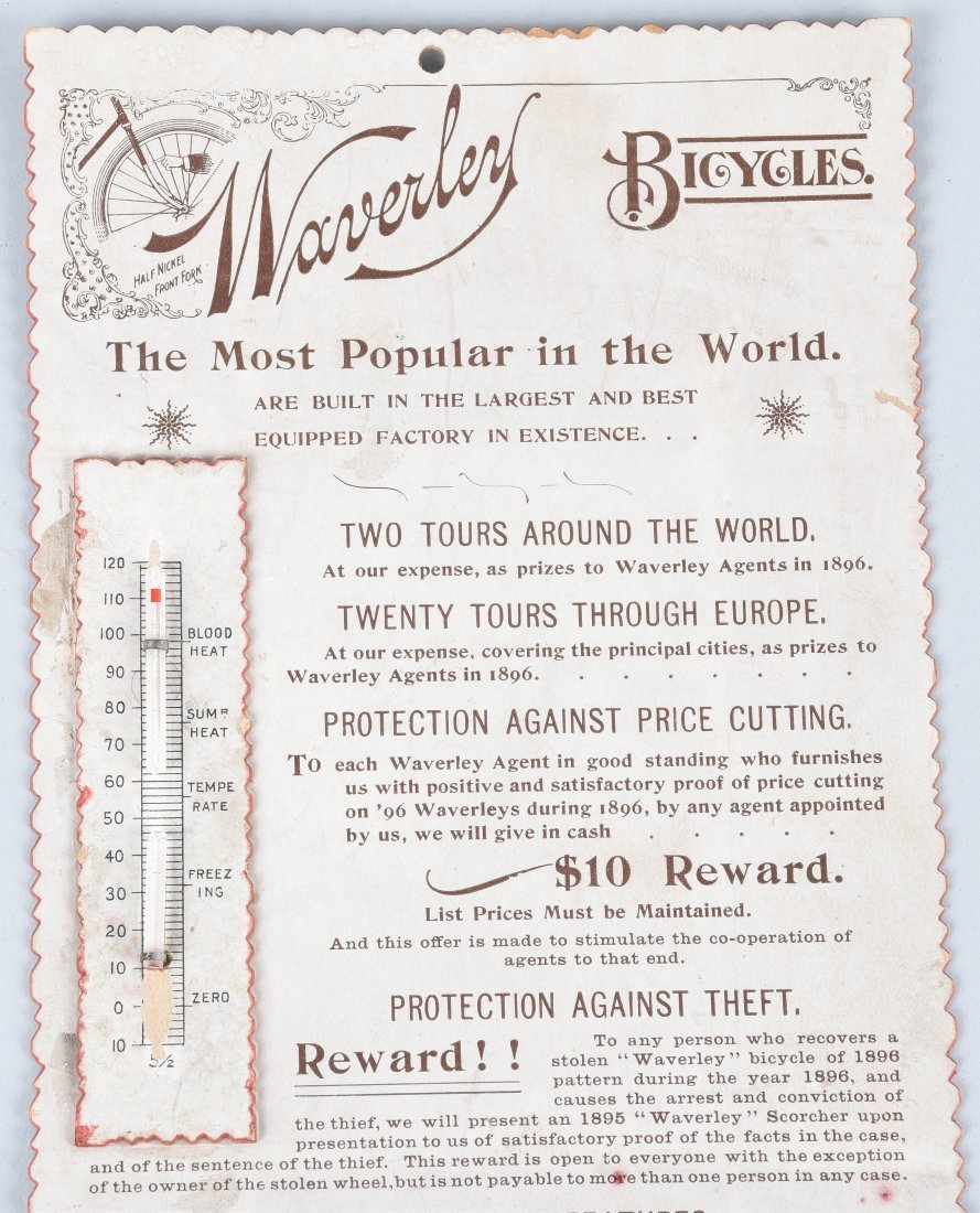 1896 WAVERLY BICYCLE CALENDAR and MORE - 2