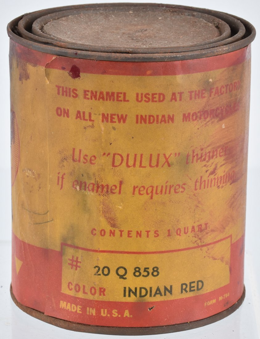 INDIAN MOTORCYCLE 1 QUART PAINT CAN - 3