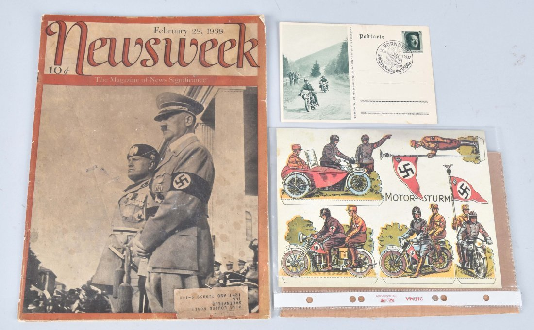WW2 NAZI GERMANY MOTORCYCLE PAPER LOT