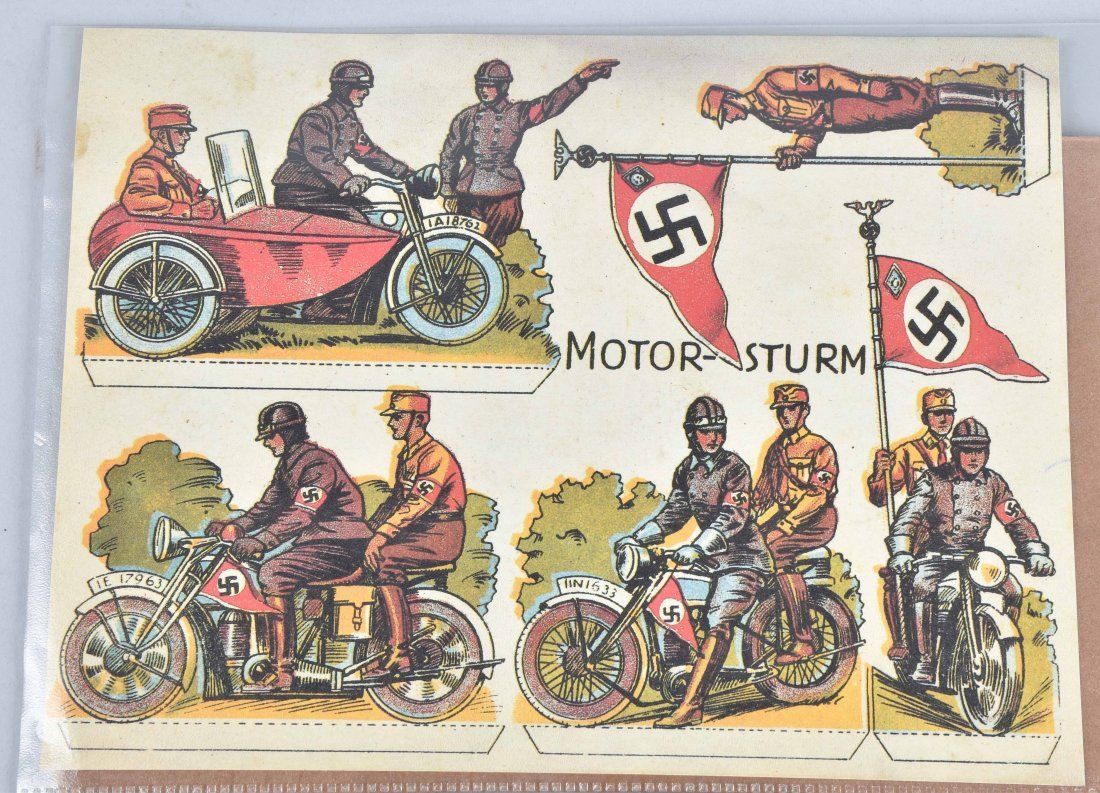 WW2 NAZI GERMANY MOTORCYCLE PAPER LOT - 2