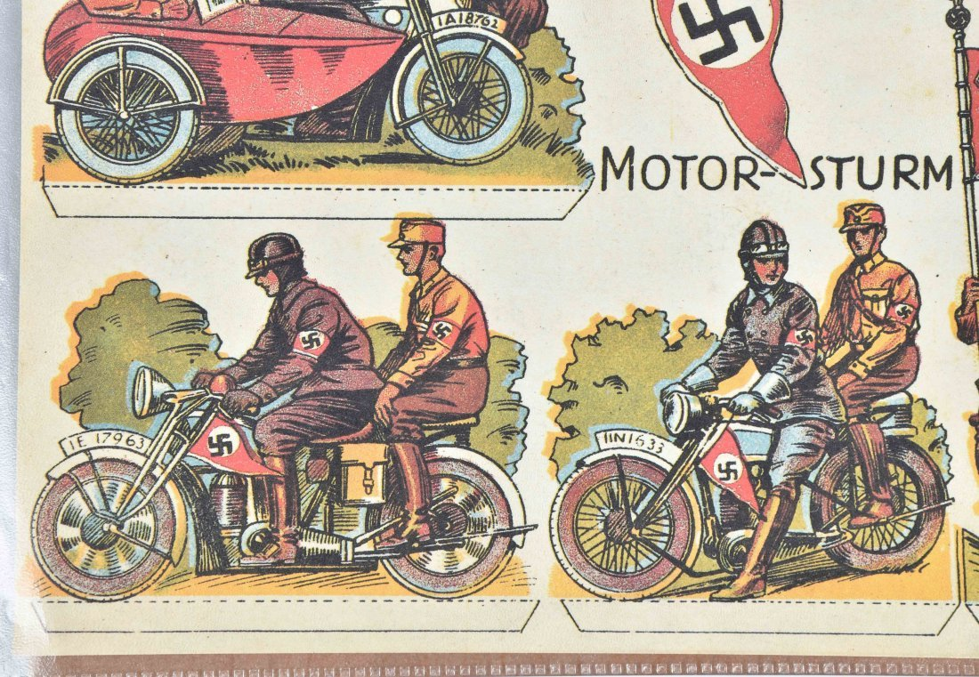 WW2 NAZI GERMANY MOTORCYCLE PAPER LOT - 4