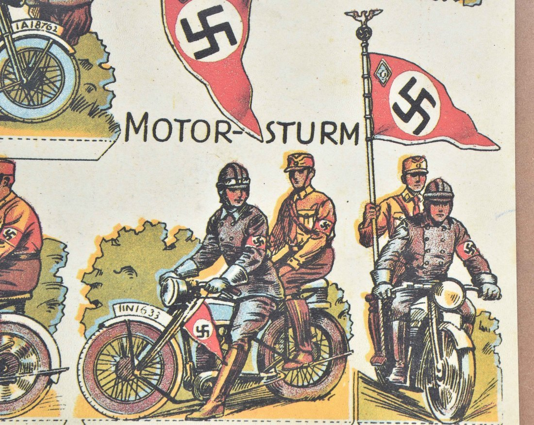 WW2 NAZI GERMANY MOTORCYCLE PAPER LOT - 5