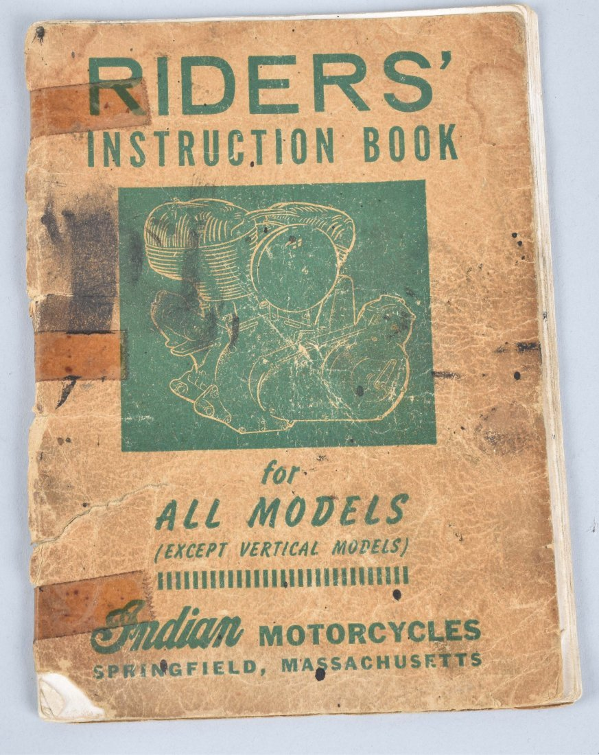 2-INDIAN MOTORCYCLE ITEMS, CATALOG, RIDERS MANUAL - 5