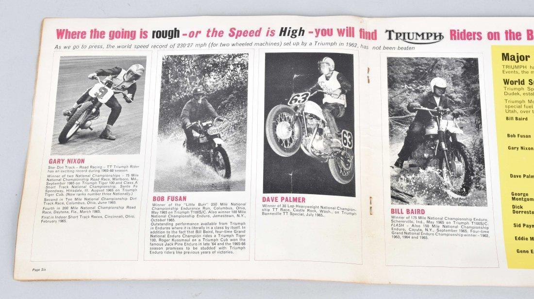 1965 TRIUMPH MOTORCYCLE COLOR CATALOG - 2