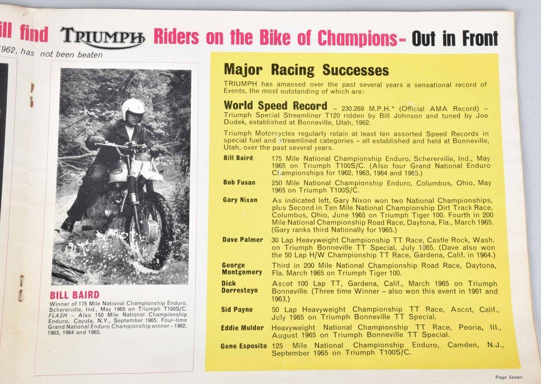 1965 TRIUMPH MOTORCYCLE COLOR CATALOG - 3
