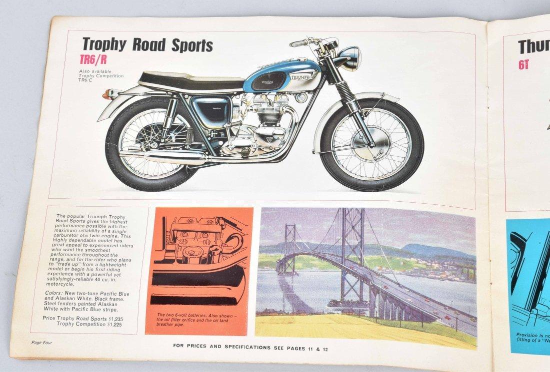 1965 TRIUMPH MOTORCYCLE COLOR CATALOG - 4