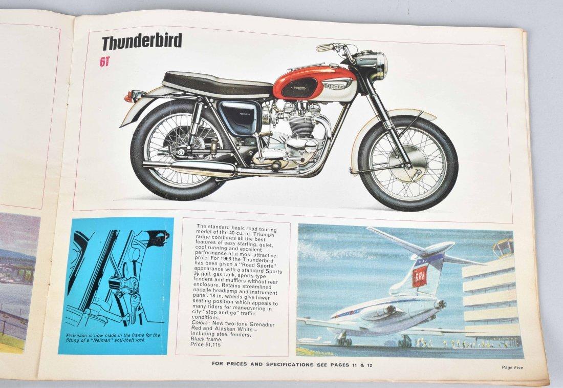 1965 TRIUMPH MOTORCYCLE COLOR CATALOG - 5