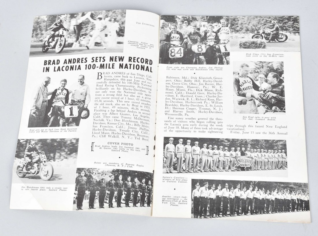 2-HARLEY DAVIDSON ENTHUSIAST MAGS, 1949, 1956 - 2