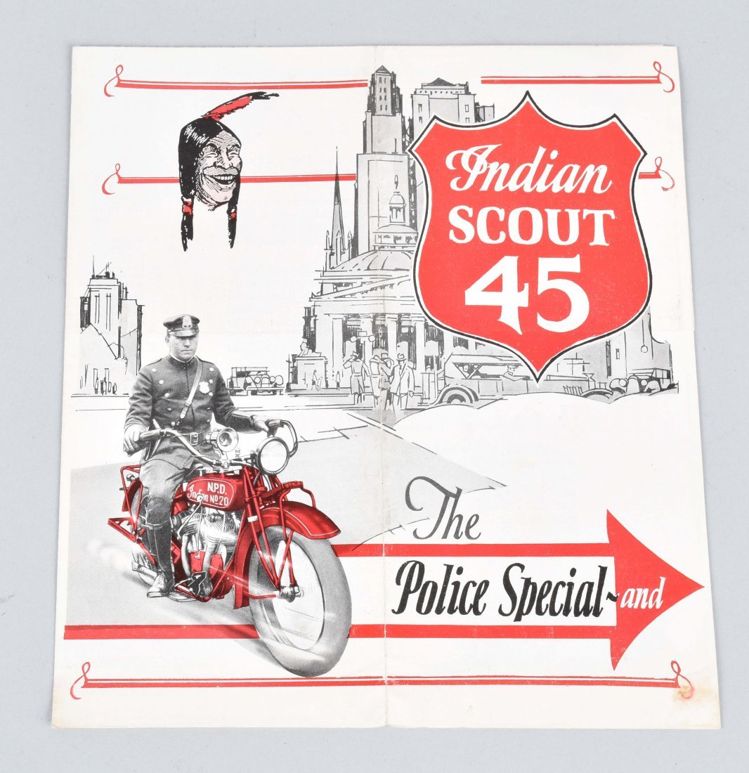 INDIAN SCOUT 45 POLICE SPECIAL COLOR BROCHURE