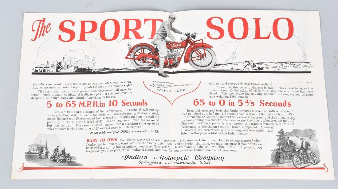 INDIAN SCOUT 45 POLICE SPECIAL COLOR BROCHURE - 2