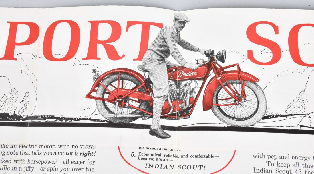 INDIAN SCOUT 45 POLICE SPECIAL COLOR BROCHURE - 3
