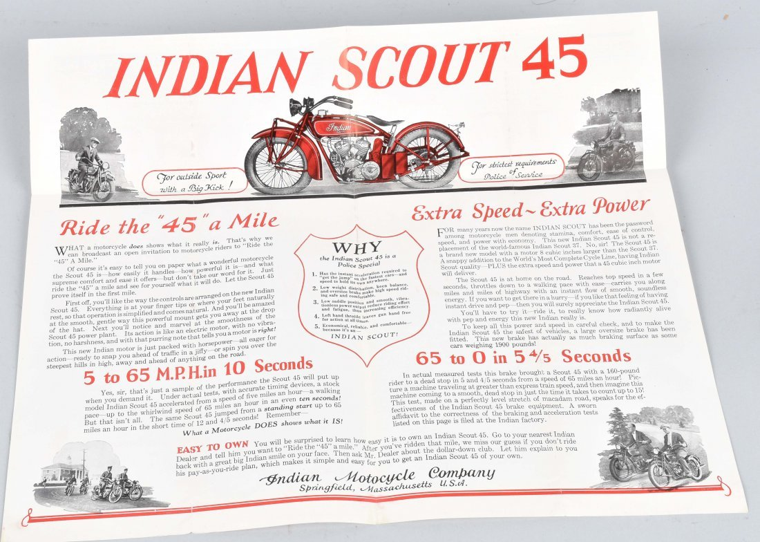 INDIAN SCOUT 45 POLICE SPECIAL COLOR BROCHURE - 4