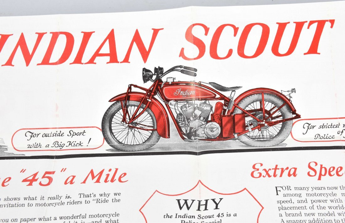 INDIAN SCOUT 45 POLICE SPECIAL COLOR BROCHURE - 5