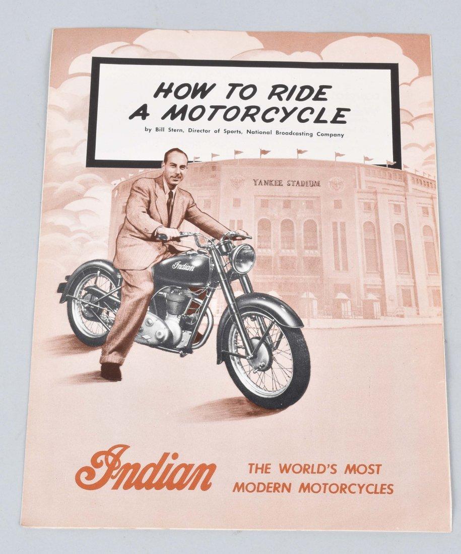 1948 INDIAN MOTORCYCLE BROCHURE, ARROW MODEL
