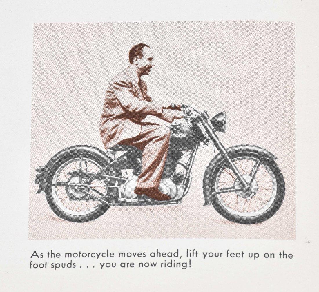 1948 INDIAN MOTORCYCLE BROCHURE, ARROW MODEL - 5