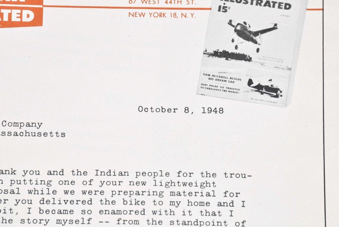 1948 INDIAN MOTORCYCLE BROCHURE, ARROW MODEL - 8