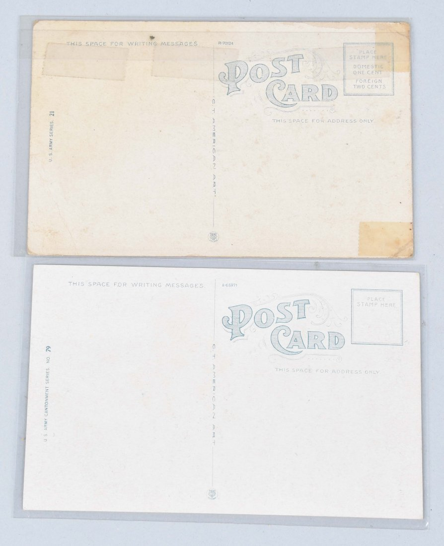 2-WW1 HARLEY DAVIDSON MILITARY CYCLE POST CARDS - 4