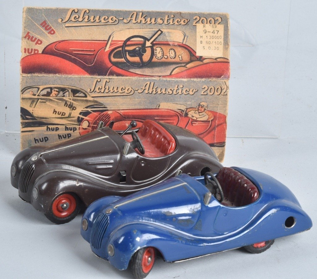 2- SCHUCO WINDUP CARS w/ BOX