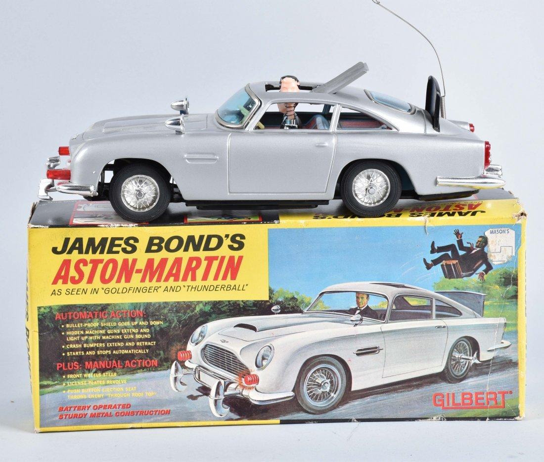 GILBERT Battery Op JAMES BONDS ASTON MARTIN w/BOX