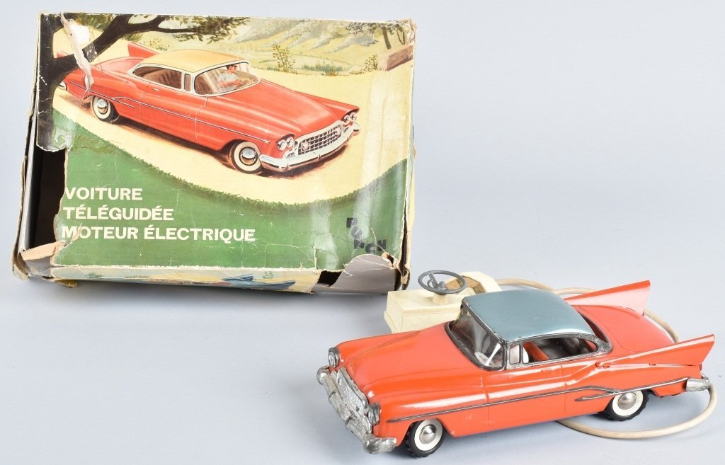 FRENCH Battery Operted TIN CAR w/ BOX