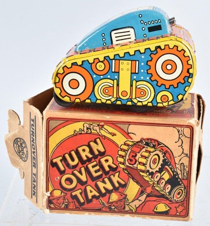 MARX Tin Windup #5 TURNOVER TANK w/ BOX