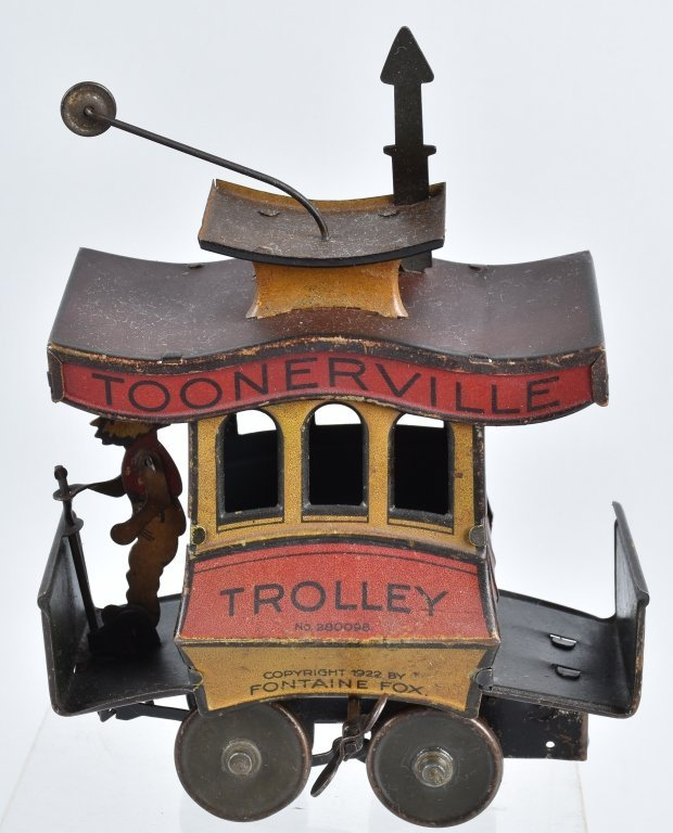 NIFTY Tin Windup TOONERVILLE TROLLEY