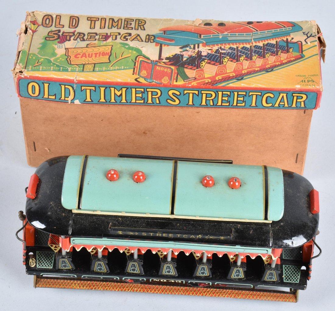 JAPAN Tin Friction OLD TIMER STREET CAR w/BOX