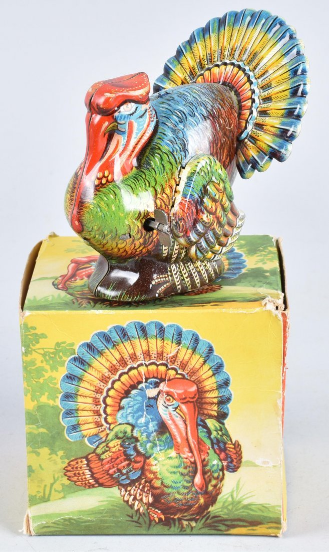 GERMAN Tin Windup TURKEY w/ BOX