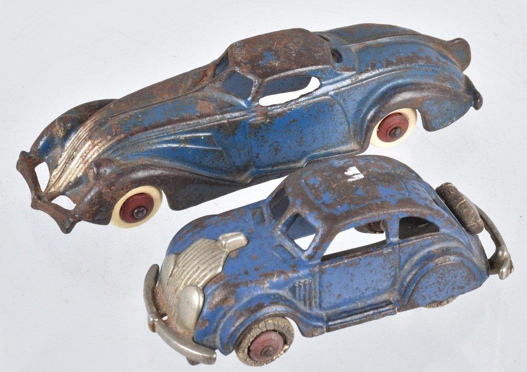 2-1930's HUBLEY CAST IRON AUTOS