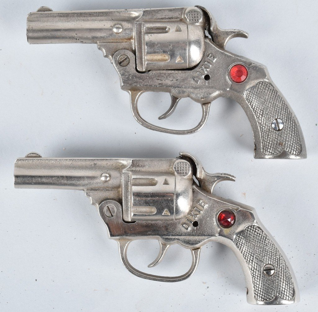 2-DIXIE CAST IRON CAP GUNS with JEWELS