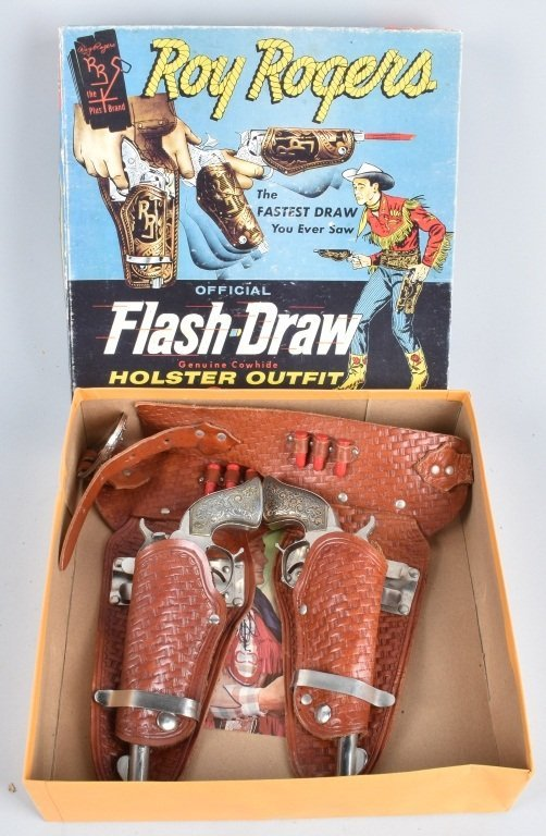CLASSY ROY ROGERS FLASH DRAW HOLSTER SET, BOXED