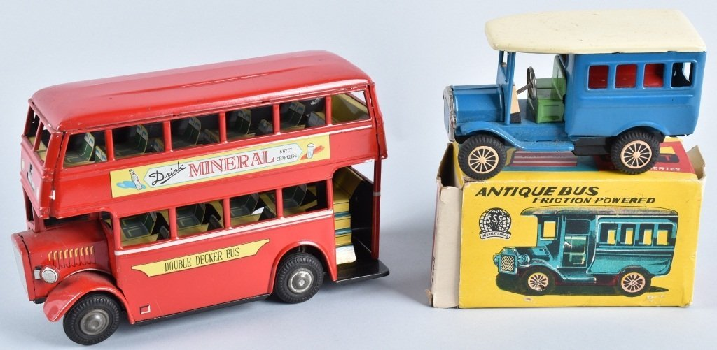 2-JAPAN TIN FRICTION BUSES, ONE BOXED