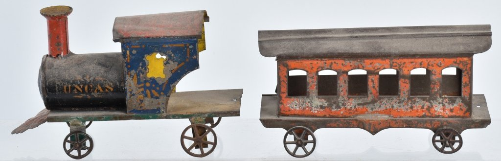 AMERICAN TIN 19TH CENTURY LOCOMOTIVE & CAR