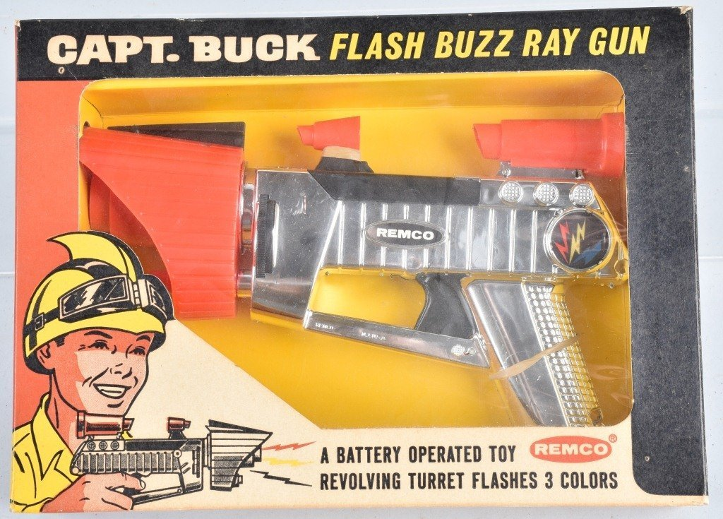REMCO CAPT. BUCK FLASH BUZZ RAY GUN, BOXED